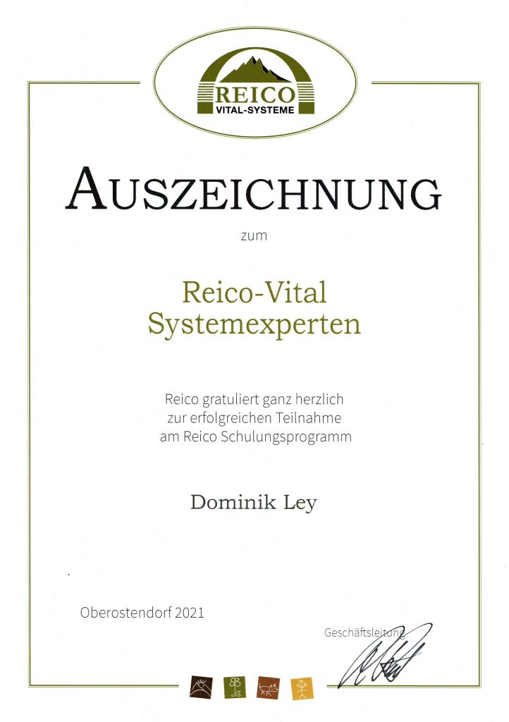 Futterberatung durch den Reico-Vital Systemexperten Dominik Ley